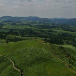 空撮練習で押戸石の丘へ